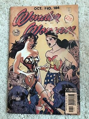 WONDER WOMAN 184 Scarce ADAM HUGHES Variant Cover with MODERN & GOLDEN AGE