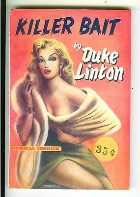 KILLER BAIT by Duke Linton, rare British Scion crime gga digest pulp vintage pb