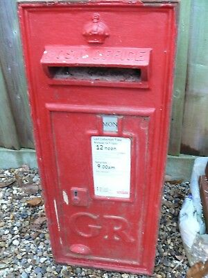 Genuine Royal Mail Postbox `gr` - Wall Mounted - Doors Front & Back