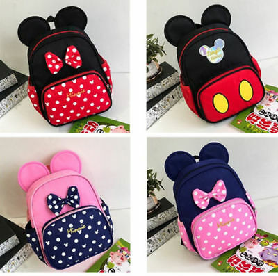 Kindergarten Girls/Boys Mickey Mouse Baby Kids Book Bags Backpacks 3-5Years Old