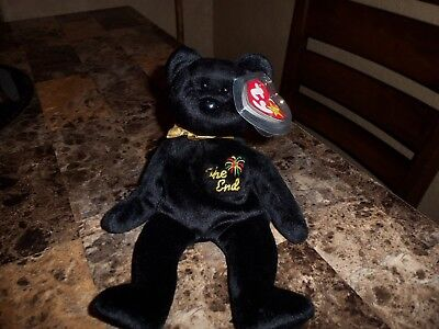 Rare Ty Beanie Baby The End 1999 With Multiple Tag Error & Flat Tag