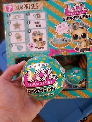 LOL Surprise Supreme Pet Limited Edition Ball Doll L.O.L. Lucky Luxe Pony