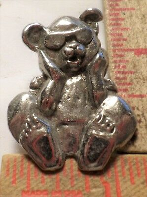 Vintage Grateful Dead pin rock & roll music Dancing Bear collectible old pinback