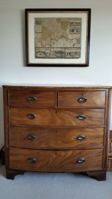 Large Antique Walnut Victorian Chest of Drawers