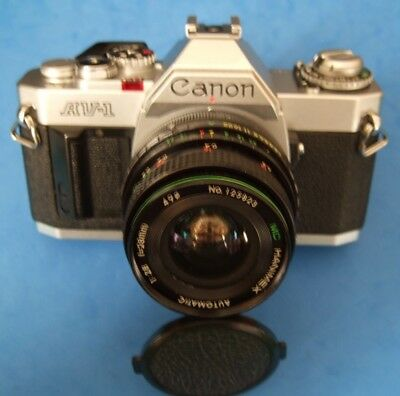 Canon AV-1 35mm SLR Film Camera with 28mm lens - WORKING ORDER