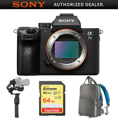 Sony a7III Mirrorless Interchangeable Lens Camera Body+Gimbal Stabilizer Bundle