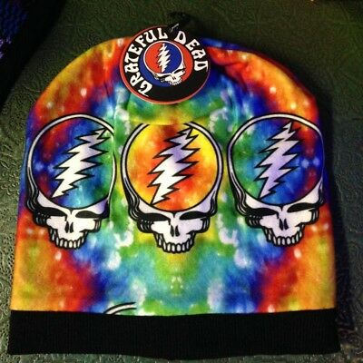 Grateful Dead Tie Dye Rainbow Steal Your Face Winter Beanie
