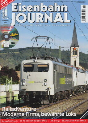 Eisenbahn Journal 11/2018 *** RAILADVENTURE *** u.v.m. + DVD