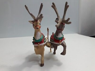 Hallmark Ornaments 4 Santa and His Reindeer Collection Donder and Blitzen