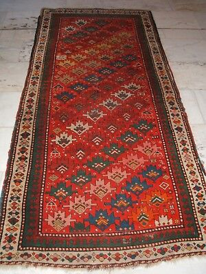 Antique Old Kazak Genje Talish Alter Kaukasischer Teppich Tapis Caucase Tapetto
