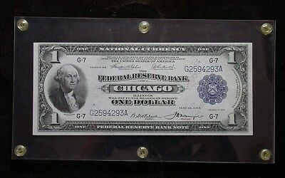 1918 Federal Reserve Bank of Chicago National Currency Large Size $1 Note rb1937