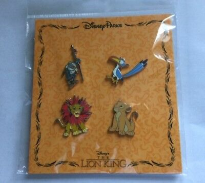 New Disney Parks Lion King 4 Pin Booster Set - Nala Zazu Simba Rafiki -