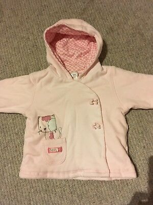 Baby Girl Next 3-6 Month Pink Jacket With Hood