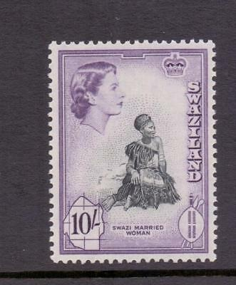 Swaziland 1956 SG63 10s Swazi Woman Fine MINT Lightly Hinged Cat £26