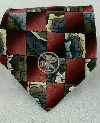 Mens Red Stonehenge LTD Cocktail Collection Tie Made in the USA Man