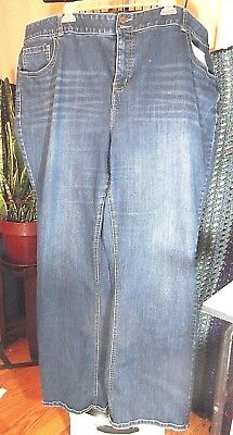 Lane Bryant Jeans Boot Cut Tighter Tummy Technology 28 Long