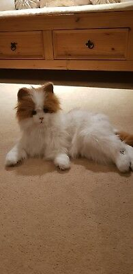 Hasbro FurReal Friends Lulu The White & Ginger rare cat.