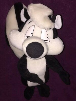 "1994 Warner Bros Pepe La Pew Applause 25"" VT Stuffed skunk looney Toon plush Toy"