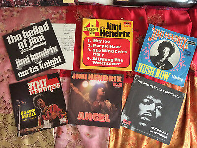 6xSingle-Covers JIMI HENDRIX - Only Covers! Angel / Voodoo Ch. / Ballad Of Jimi