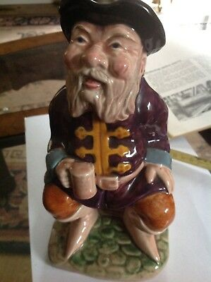 Toby Jug Vintage Large Melba Ware Hand Painted Tale Teller Made In England