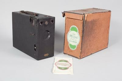"Vintage ~ c1910 ""No.1 Midg"" Magazine Camera with Original Card Box"