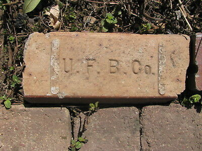 OLD VTG antique Brick reclaimed Stamped UFBC