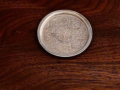 - Exotic Persian 875 Silver Coaster With Traditional Engraved Decoration No Mono