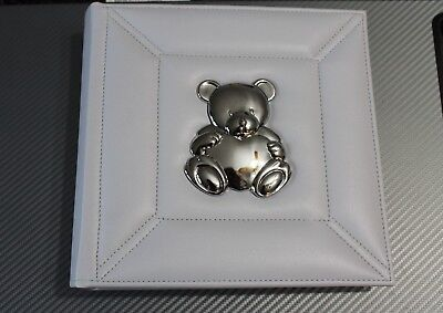 Baby Essentials Baby Photo Album, holds 200! Light blue/grey with Bear!