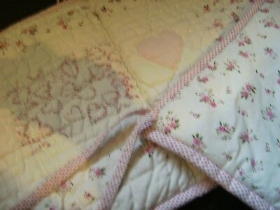 The Little White Company Cot Bumper girl White/Pink very pretty with rosebuds