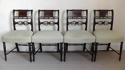 *circa 1810* Four Outstanding Regency Mahogany Dining Chairs In Great Condition