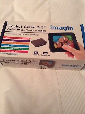 "Imagin Pocket Size Digital Photo Frame Wallet 3.5"" MMC FACTORY SEALED"