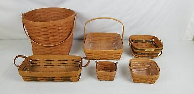 Lot of 6 Longaberger Baskets*
