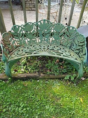 Cast Iron Garden Bench Dragon/Leaf Motif