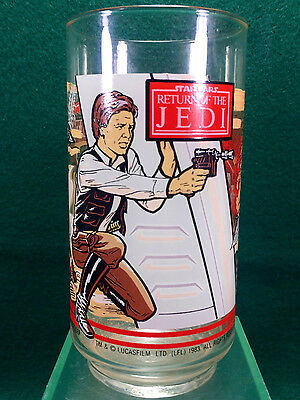Vintage 1983 BK/Coca-Cola Star Wars RETURN OF THE JEDI Han Solo Glass