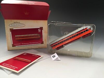 Hallmark Keepsake ornament- Lionel Train Hiawatha Observation Car