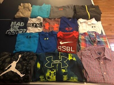 Lot of boys size medium, Nike, Under Armour, Old Navy, Columbia, Tommy Hilfiger