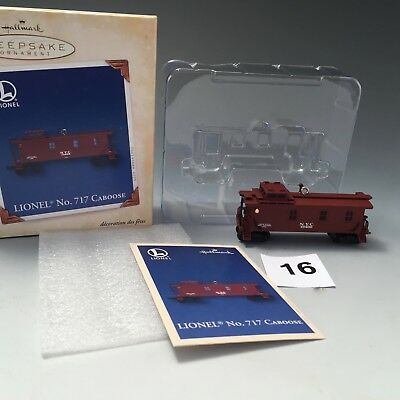 Hallmark Keepsake Lionel train ornament, No. 717 Caboose, 2005