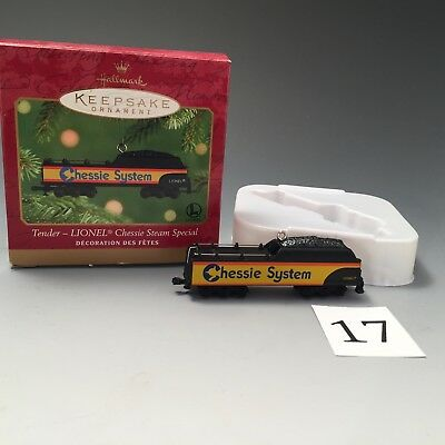 Hallmark Keepsake Lionel train ornament, Chessie Steam Special, 2001