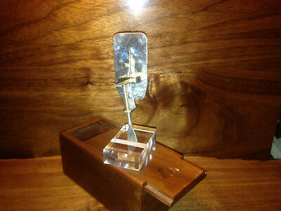 Sterling Silver Leeuwenhoek Microscope and Wooden Box -- Very Rare. Hand Made.