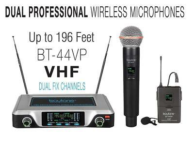 Boytone BT-44VP Dual Digital Channel Wireless Microphone plus Headset