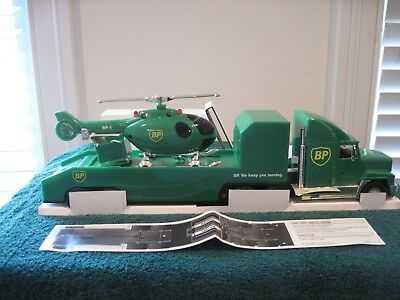 1999 Bp Oil Chopper Truck With Support Vehicle Mib Special Gold Ed / Very Rare