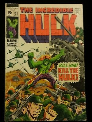 Incredible Hulk #120 Marvel Silver Age Comic Book 1969 Inhumans Appearance