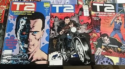 1990s Terminator 2:Judgement Day Movie Comic Book Set of 3-Marvel #1-3 ARNOLD
