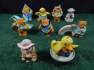 "9 Vintage Enesco ""Lucy & Me"" Bears Rainbows and Ducks"