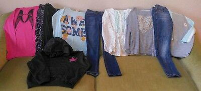 Lot of Girls Clothes Size 10-12  outfits Skinny Jeans hoodie tops leggings