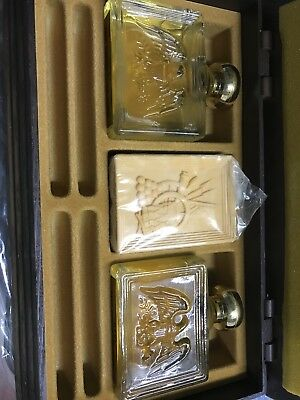 Avon American Eagle Bureau Organizer w/deep woods a/s and cologne and soap - NOS