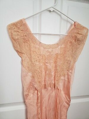 Antique Lace Night Gown Early Retro Collectable Stunning Beautiful Early #2
