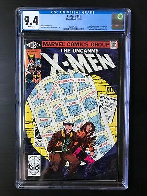 X-Men #141 CGC 9.4 NM Days of Future Past 1981 White pages 1st Rachel 99 CENTS!
