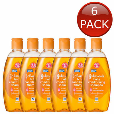 6 x JOHNSON'S BABY CONDITIONING SHAMPOO HYPOALLERGENIC GENTLE SOAP FREE 200mL