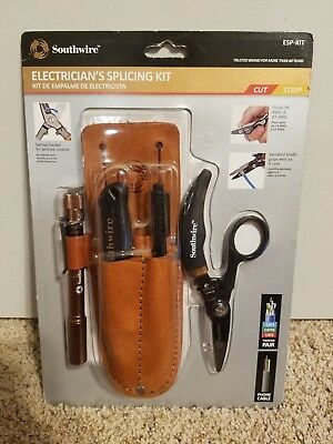 Southwire Tools & Equipment ESP-KIT Electrician Splicing Kit with leather pouch